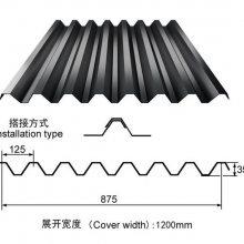 鞍山市YX35-125-875型开口楼承板_建筑楼面钢承板厂家