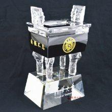珠海鼎盛摆件厂家 客户答谢酒会礼品 水晶纪念品订制