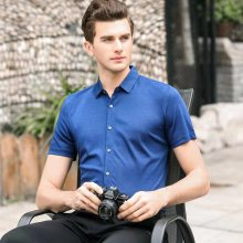 西安高端品质商务T恤衫团体定做 定制丝光棉 桑蚕丝 全棉 面料 白色 天蓝色 藏青色 卡其色,多款多