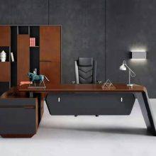 办公家具高端现代时尚意式轻奢办公家具总裁老板桌大班台