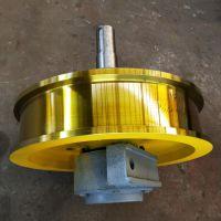 机械配件天车轮,φ800*160双边主动脚箱轮,铸钢材质