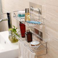 置物架免钉免钻无痕壁挂式厨房浴室毛巾挂沥水抹布防潮防水收纳放