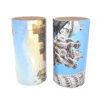 义信利圆形音响马口铁外壳 音箱铁皮壳生产厂家 彩印图案音箱铁皮桶