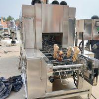 厂家直销猪脑袋烤毛机 双层网带猪皮烧毛机 鸡翅喷毛流水线