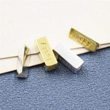 久黛饰品 s925纯银diy手工制作配件材料 串珠手链lucky幸运隔珠