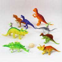大尺寸仿真软胶塑料恐龙模型玩具套装带恐龙蛋霸王龙雷龙等3311