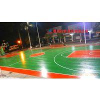 安徽彩色塑胶篮球场地坪 黄山市采用4mm水性硅PU材料 环保耐磨篮球场施工