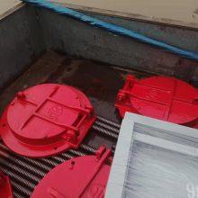 球墨铸铁拍门 dn150复合材料拍门 型号齐全 价格合理欢迎来电咨询定制