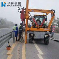厂家直销公路护栏打桩机 小四轮护栏打桩机 公路护栏液压打桩机