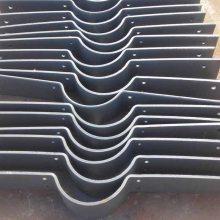 汇鹏管道 热镀锌扁钢管夹定做 钢制热镀锌双螺栓扁钢管夹 厂家直销