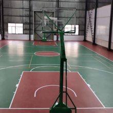 水性硅pu材料5MM价格 篮球场硅PU现场施工 硅PU篮球场地施工