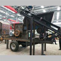 湖北襄樊移动磕石机 可流动克石机 能随时拉走的移动式碎石机有什么优点