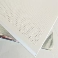 工装铝天花板 白色穿孔吸音板 0.6厚天花铝扣板