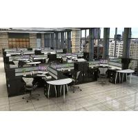 办公家具 办公桌 4人位创意职员办公桌子 简约现代6人位屏风卡座组合
