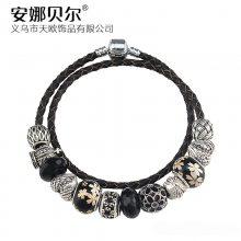 ebay爆款手链 欧美复古暗黑系琉璃串珠手链 DIY个性组装手链批发
