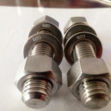 厂家直销Inconel718 (UNS NO7718)沉淀强化镍基高温合金双头螺栓 外六角螺栓