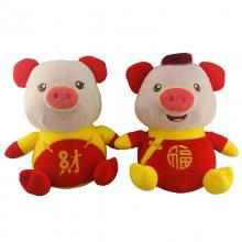 2019猪年会活动礼物新款生肖玩偶吉祥物毛绒玩具厂家定制