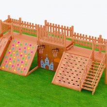 幼儿园户外木质滑梯 木质拓展攀爬滑梯定制 非标儿童游乐滑梯设施 原木树屋滑梯厂家直销