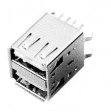 厂家值销USB插座USB插头USB母座供应USB A母座双层180° DIP