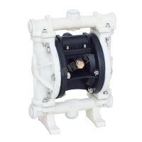 QBY25/40气动隔膜泵铝合金铸铁工程塑料不锈钢耐腐蚀抽胶气动水泵