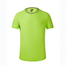 贵阳圆领短袖文化衫定做,T恤衫定制,广告衫团购批发,HANL-9002欧根棉185g跑步衫