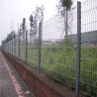 单位围墙防护网 绿地护栏 折弯护栏网