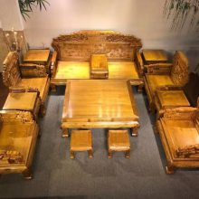 厂家批发金丝楠(小叶桢楠)明清古典沙发 十一件套及以上