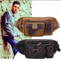 厂家直销男士多功能钱包男式拉链包休闲运动腰包户外骑行小包包
