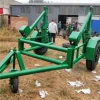 光缆放线车 5吨线盘拖车 带收线电缆拖车 电缆多功能收放线车