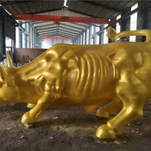 莱芜华尔街铁牛-恒天铜雕厂-3米华尔街铁牛