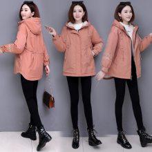棉服女中长款2019新款韩版女式羽绒棉衣甜美刺绣冬季女装棉袄外套