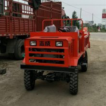 厂家直销工地水泥石子运料车 双顶双液压四驱装卸车 加厚加重四轮工程车