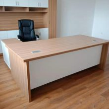 老板桌-昆明办公家具-简约现代板式大班台主管经理桌-老板办公桌椅