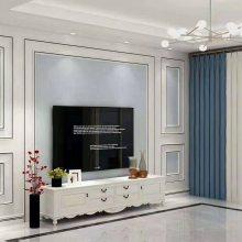 湖南刺绣背景墙框边线条.同色全屋配套实木装饰线条