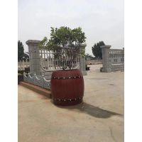 市政工程建筑装饰专用绿化仿木花桶 圆形景观种植混凝土花盆花桶 厂家低价供应