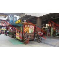 景区木质售货亭,徐州商业街贩卖花车,步行街烧烤售货车