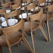 进口白橡实木餐椅厂家 实木交叉椅子 咖啡厅实木餐椅子 现代简约餐椅