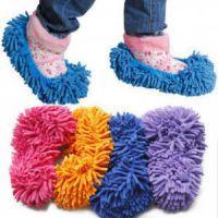 雪尼尔可拆洗擦地拖鞋拖地鞋套懒人扫地地板拖把擦地鞋抹布