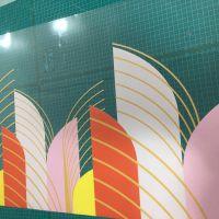 深圳圣诞树贴画橱窗贴 UV打印彩白超透双面颜色 汇美喷绘
