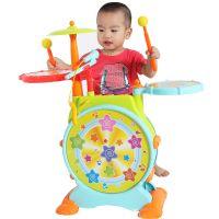 俏娃宝贝666悦动宝宝儿童爵士鼓架子鼓宝宝打击乐器玩具电子鼓