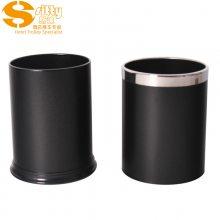 专业生产SITTY斯迪99.0210DB铁质黑色银圈环状外套客房桶/垃圾桶