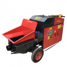 山西忻州二次构造柱填充灌浆设备 工地专用混凝土地泵拖泵 车载式水泥输送泵