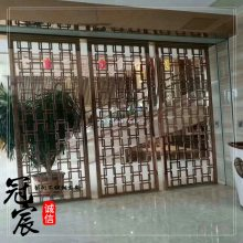 定制不锈钢中式屏风隔断 售楼部办公室不锈钢隔断屏风