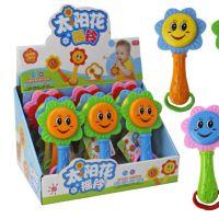 新款太阳花摇铃宝宝摇铃铛儿童发声益智乐器玩具厂家直销