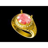 纯铜镶嵌绿幽灵情侣戒指设计 戒指淘宝 —菩提饰品定做厂家