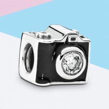 潘家手链串饰 可爱相机串珠 S925银 DIY珠子 一件代发 厂家直销