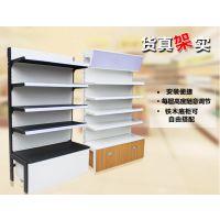 加厚商场超市专用大米粮油金属展示四柱货架柜单面陈列柜