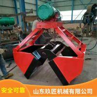 现货供应挖机连接可抓废铁废钢建筑钢筋起重机抓斗电动不锈钢抓斗