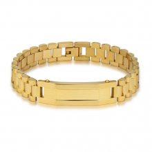 新品上市 亚马逊供货简约多层钛钢手链 男士时尚表带型手链