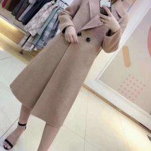 上海一线品牌 羊绒世家 高端双面羊绒大衣 品牌女装折扣尾货走份批发 大码大衣外套